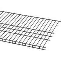 Shelf Track Wire Silver Ventilated shelving
