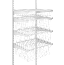 ShelfTrack 4 Drawer Kit White