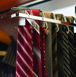 Sliding Tie Rack Satin Chrome